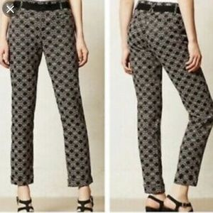 Charlie printed ankle pants Anthro Cartonnier 2P